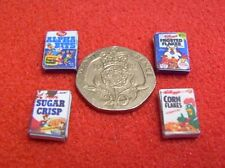 1/24th Scale Dolls House Miniature 4 x Packets of Cereal
