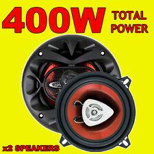BOSS 400 W TOTAL 2Way 5.25 Pollici 13cm auto PORTA / scaffale COASSIALI ALTOPARLANTI COPPIA ROSSO