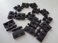 LEGO Black Plate, Modified 1 x 2 with Handle on Side - Lot/15