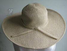 J.Jill Wide-Brimmed Straw Hat  1 SZ  NWT  $49  Natural