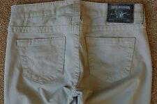 TRUE RELIGION HALLE 26X30 Leggings Jeans NWOT$294 Rare Sample! Skinny! Beige!
