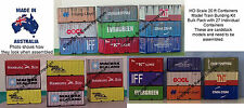 HO Scale 20ft Mixed Containers X 27 Model Railway Building Kit 20FTBC1