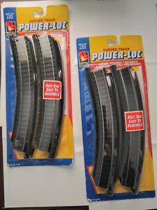 2x4 - 8 total HO LIFE-LIKE POWER LOC 22R STEEL TRACK 21303