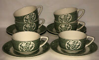 6 Royal *OLD CURIOSITY SHOP*GREEN*CUPS & SAUCERS*