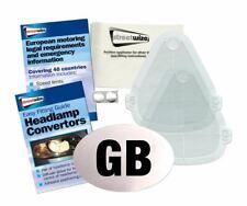 European EU Euro Car & Van Beam Bender Headlight Converters + Guide & GB Sticker