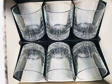 Large Whiskey Glasses Set 6 Old Fashioned Glasses 33cl Ravenhead Icelantic Heavy