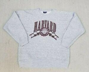 VTG JanSport HARVARD University Pullover Size Large Gray Sweatshirt Crewneck USA