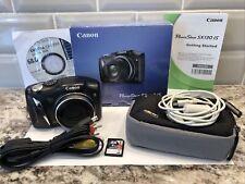 Canon PowerShot SX130 IS 12.1 MP Digital Camera 12X - Black w/all Extras EUC