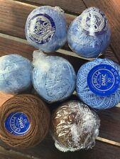 Cebelia Dmc Crochet Thread Size 30 50 Gauge #913 Delft Blue #801 Coffee Brown