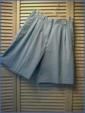 "IZOD Club ~ Medium Blue Pleated Walking Golf Shorts (10) Poly/Cotton 28"" waist"