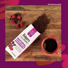 Folgers Simply Gourmet Natural Chocolate Raspberry Flavored Ground Coffee, With