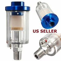 "US SHIP Spray Gun 1/4"" Air Line Mini Filter Water Trap Clear Painting Moisture"