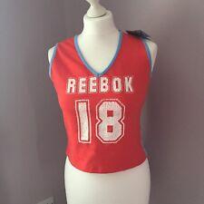 BNWT Reebok Sports Top Blue Red Size 16