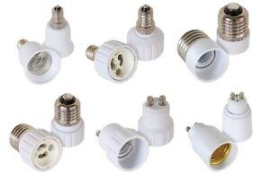 Adapter Lampensockel Sockeladapter E14 E27 GU10 alle Kombinationen