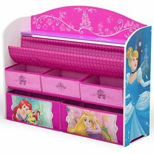 Princesas Organizador De Juguetes y Libros Madera Para Niños Niñas Grande Pink