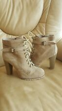 Military ankle Boots LA REDOUTE ACTIVE WEAR Beige suede Leather 7UK EU 41 once