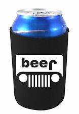 Beer Truck (jeep) Funny Can Coolie, Choice of Color