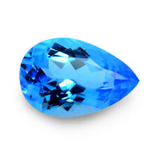 20.08 Ctw Mind Blowing Pear Blue Flawless Natural Swizz Topaz