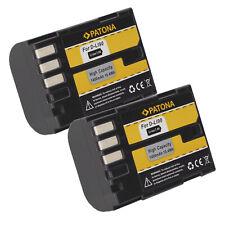 2x Batteria Patona caricabatteria USB dual per Pentax K-01 SLR,K01 DSLR,K-1,K1
