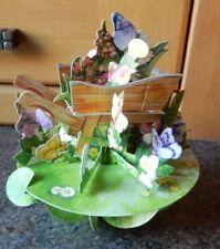 "3D  Pop Up Card by Santoro Graphics - Pirouette Cards -  ""Wheelbarrow of Flowers"