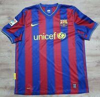FC Barcelona Jersey Shirt 100% Original 2009/2010 Home Men's L Good Condition