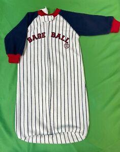 B735/140 MLB Baseball Infant Baby Sleep Sack Bag Soft Pin Striped OSFA