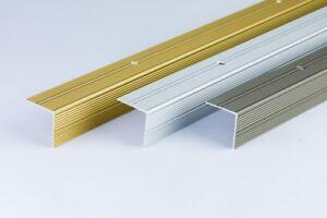 """ANODISED ALUMINIUM ANTI NON SLIP STAIR EDGE NOSING -TRIM- 30x30mm - 0.9M 35.43"""""""