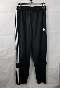 Vintage Adidas Embroidered Track Soccer Pants Black Pockets Mens Size Large