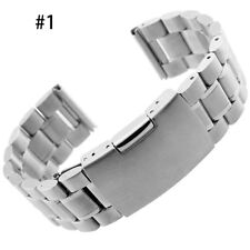 18/20/22/24mm Stainless Steel Solid Link Watch Band Strap Bracelet Straight Tool