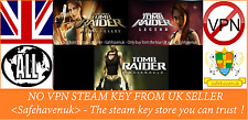 Tomb Raider Anniversary + Legend + Underworld Steam key no VPN REGION FREE