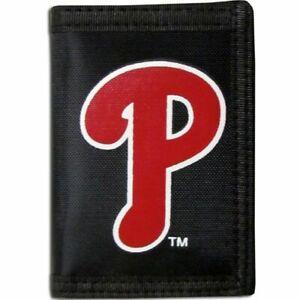 Philadelphia Phillies Trifold Nylon Wallet MLB Licensed Baseball