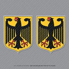 2 X Alemana Alemania Bandera Eagle Crest Vinilo Calcomanía Pegatinas 80 Mm x 62 Mm-SKU2821