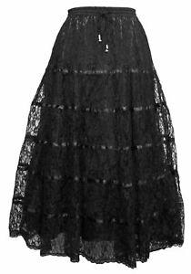 Dark Star Skirt Woven Black Polyester. Size 14