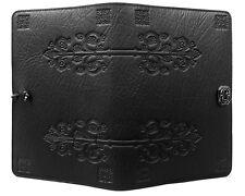"DA VINCI Oberon Design Leather Journal 5""x7"" Small Black keyhole filigree JSM49"