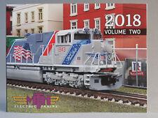 MTH 2018 VOLUME 2 TRAIN CATALOG toy o gauge lionel standard dealer book vol NEW