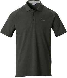 Authentic  Audi Polo shirt, Mens, Dark grey,  New 3131700914 EXPRESS DELIVERY