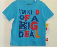 """New Boy's Blue Sesame Street """"I'm Kind Of A Big Deal"""" Embellished Shirt, Sz 4T"""