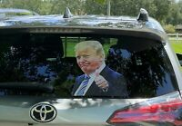 Ride with Trump  ...Thumbs Up...Window Sticker + 2 Trump Decals ..Fast Shipping!