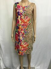 SUZANNEGRAE SIZE 12 FLORAL AND ANIMAL PRINT EMBROIDERED COTTON LACE DRESS