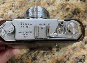 Aires 35 IIIL Rangefinder 35mm Film Camera (c.1957) w/Case   BB1