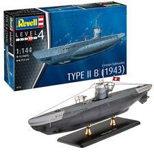 Revell submarino alemán tipo IIb (1943) 1:144 05155 kit modelo de barco