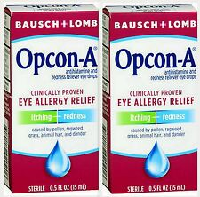 Bausch + Lomb Opcon-A Eye Allergy Relief 15ml ( 2 pack )