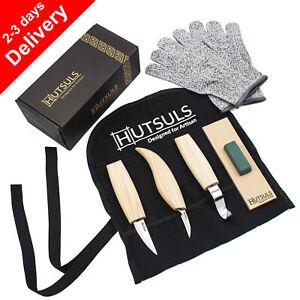HUTSULS Wood Carving Knives Set Tools Spoon Kit Whittling Carpenter Gifts