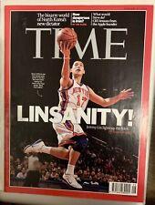 JEREMY LIN LINSANITY NY KNICKS TIME MAGAZINE (Asia Edition) FEBRUARY 2012 林書豪