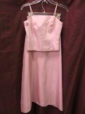 David's Bridal Junior Sze 12 Pink Blush 2 Piece Formal Bridesmaid Prom Dress R-4
