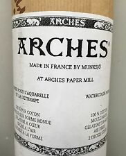 """Rollo papel arches acuarelas 100% algodón 185 GSM fino/prensado en frío y 44.5""""X10"""