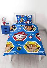 Paw Patrol Pups Single Duvet Cover Bedding Set Children Kids Characters