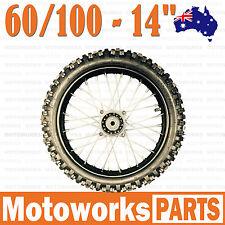"60/100 - 14"" Inch Tire & Rim Front Wheels 70cc 110cc 125cc Dirt Pit Trail Bike S"