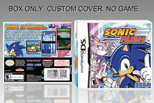NINTENDO DS : SONIC RUSH. ENGLISH. COVER CUSTOM + ORIGINAL BOX. (NO GAME).