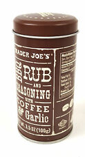 Trader Joe's Joes BBQ Coffee Garlic Rub Seasoning 3.5 OZ